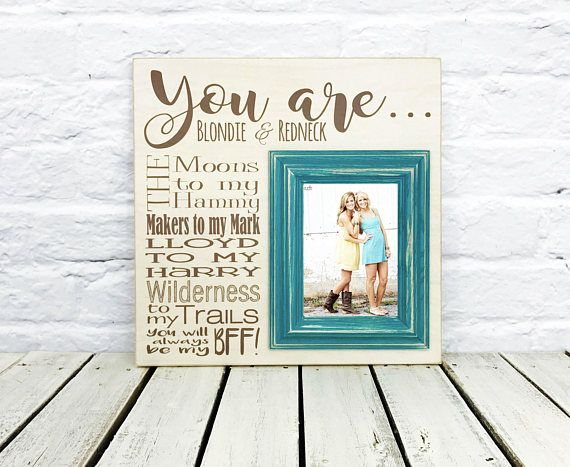 Sister Gift, Personalized Best Friends Picture frame, Personalize ...