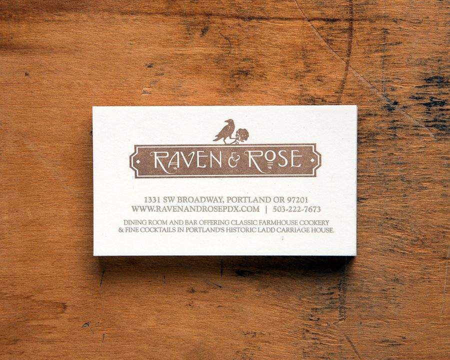 Raven & Rose | KeeganMeegan & co | Letterpress | Portland, Oregon ...