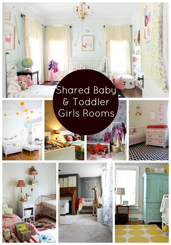 Shared baby rooms on pinterest girl toddler bedroom for Bedroom ideas shared with baby