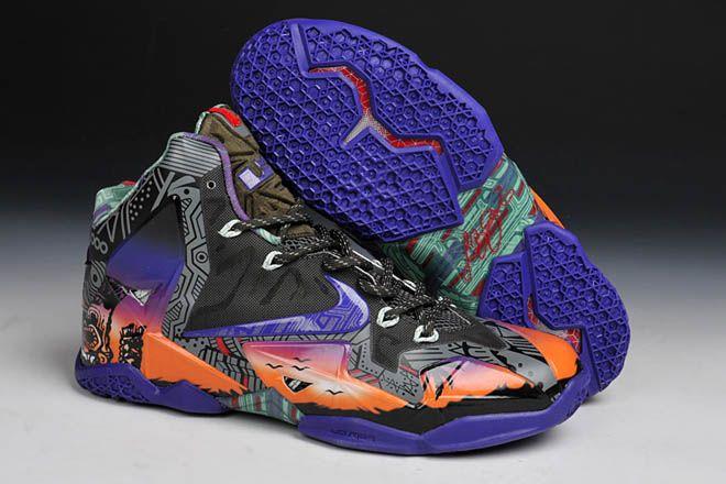 Nike LeBron 11 Mens Shoes Purple Orange