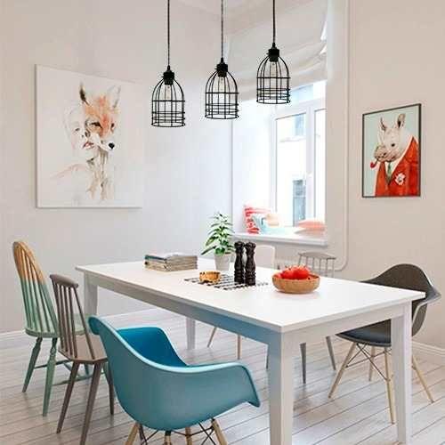 Lamparas colgantes modernas cocina jaula comedor vintage for Lamparas colgantes minimalistas