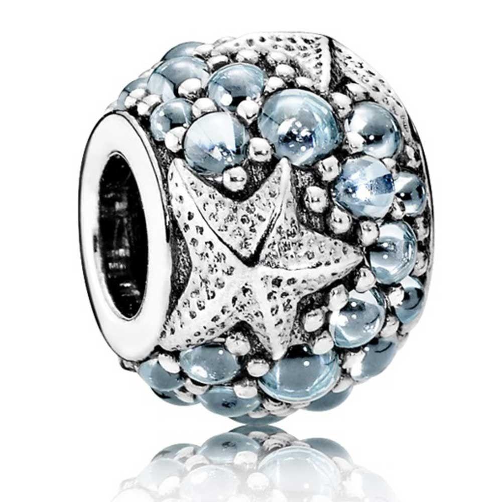 Pandora Women Silver Bead Charm - 791905CZF DQdc8MCG