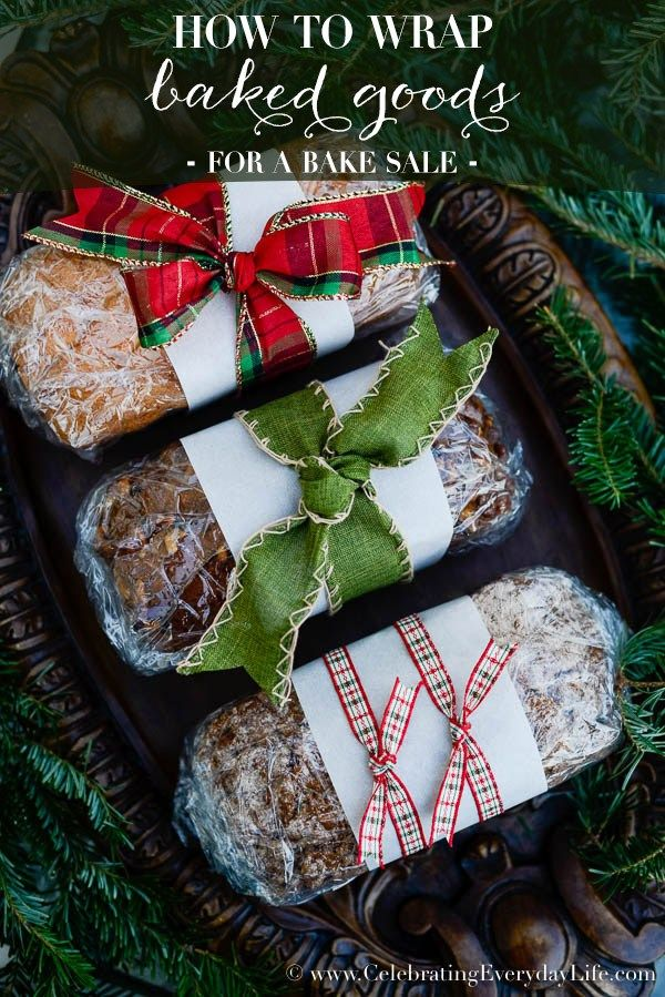 How To Wrap Baked Goods Winter Christmas Christmas