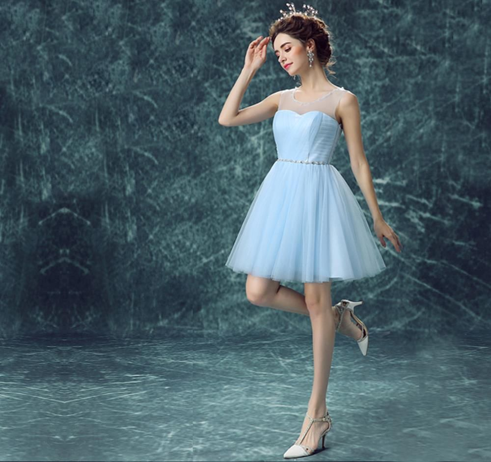 Light sky blue homecoming dressshort prom dresseshomecoming gowns