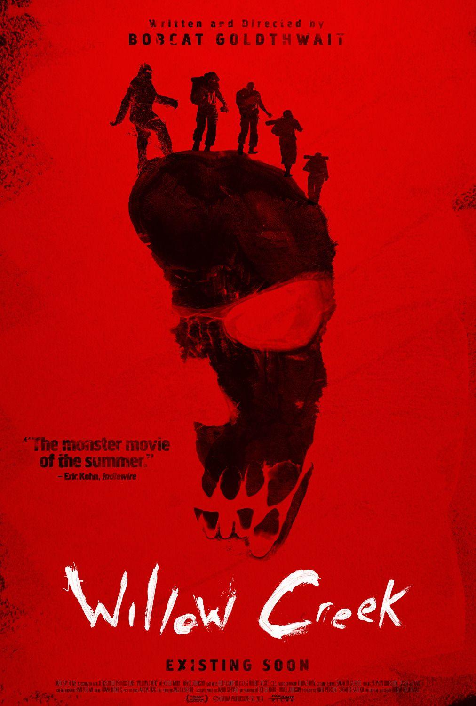 """La locandina del film """"Willow Creek"""", diretto da Bobcat Goldthwait nel 2013: un found footage che vede protagonista una coppia nei bosci alla ricerca del leggendario BigFoot... #bigfoot #horror #film"""