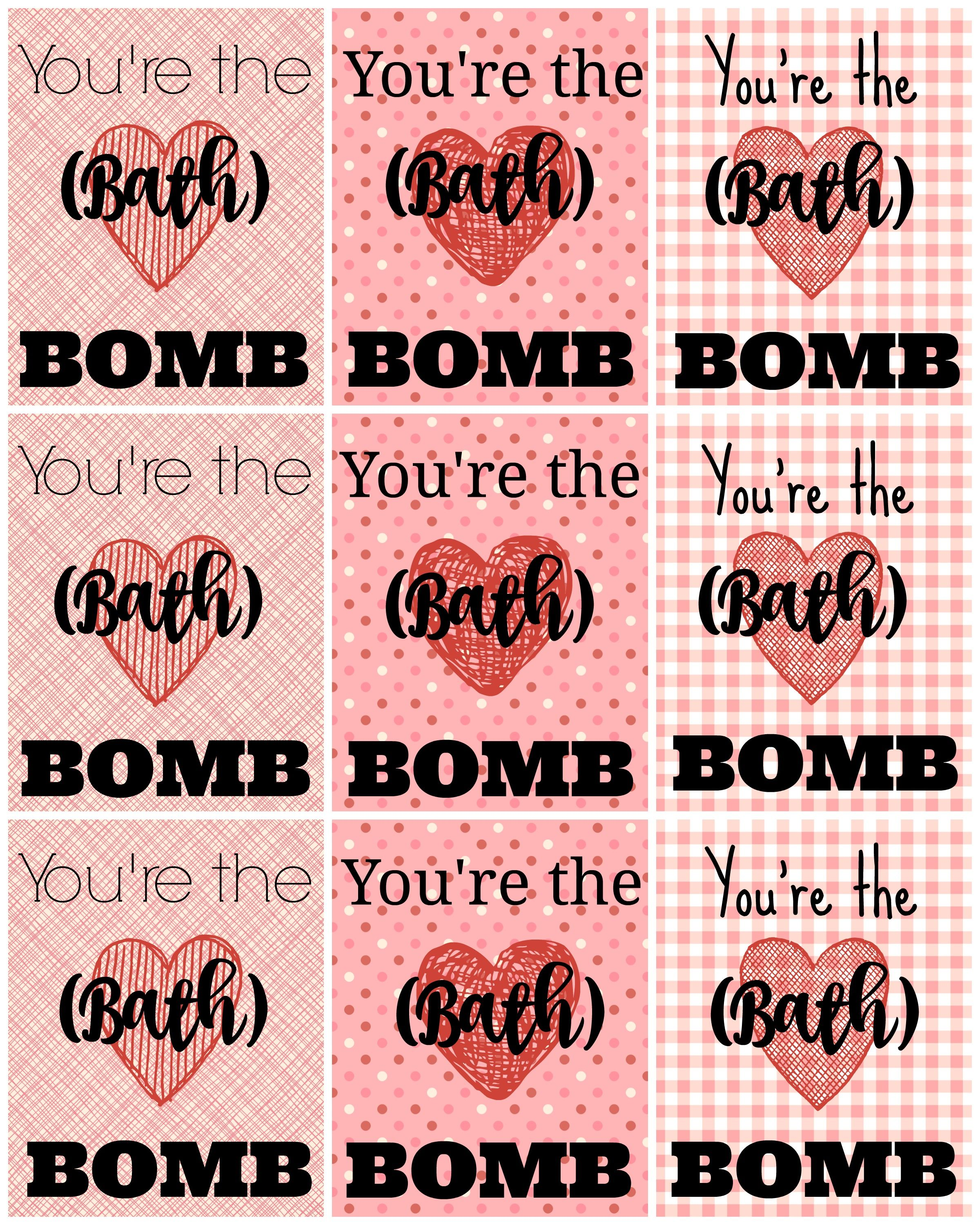 Free Printable Bath Bomb Tag Templates: Bath Bomb Printable Gift TAGS! My Daughter Was Giving Out