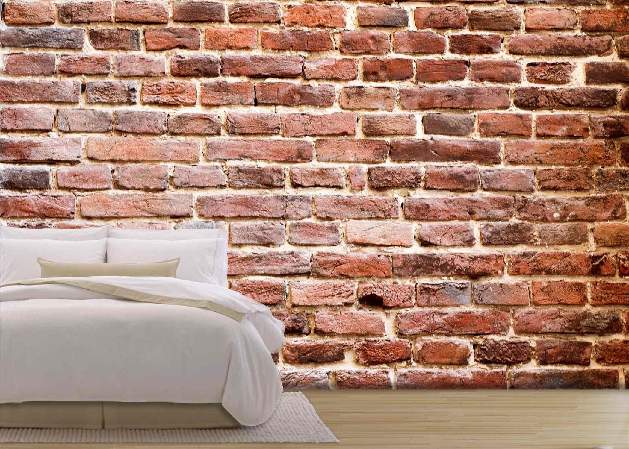 Removable Wall Adhesive Wall26  Background Of Brick Wall Texturethe Red Brick Wall Of A