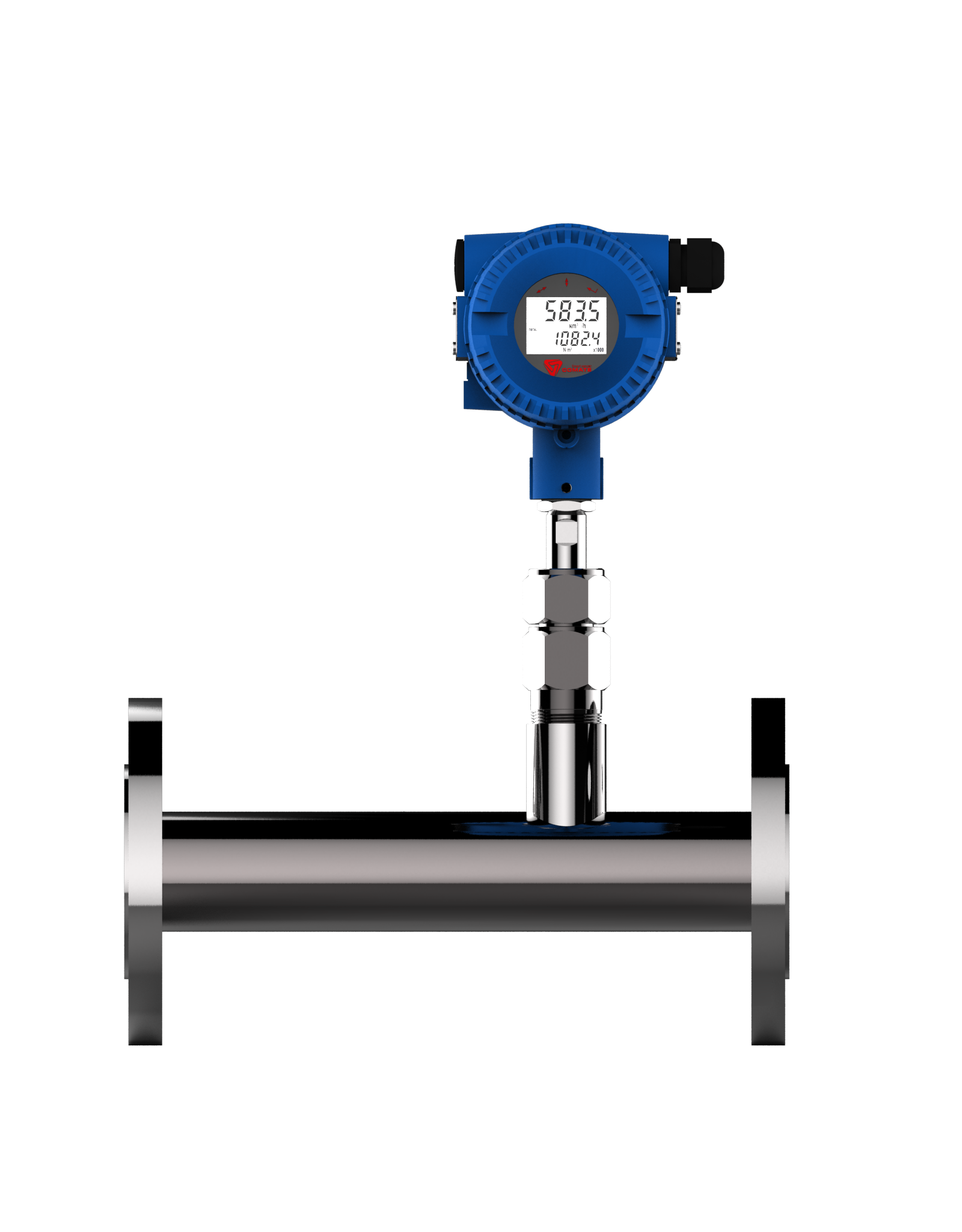 natural gas measuring flanged inline type thermal mass