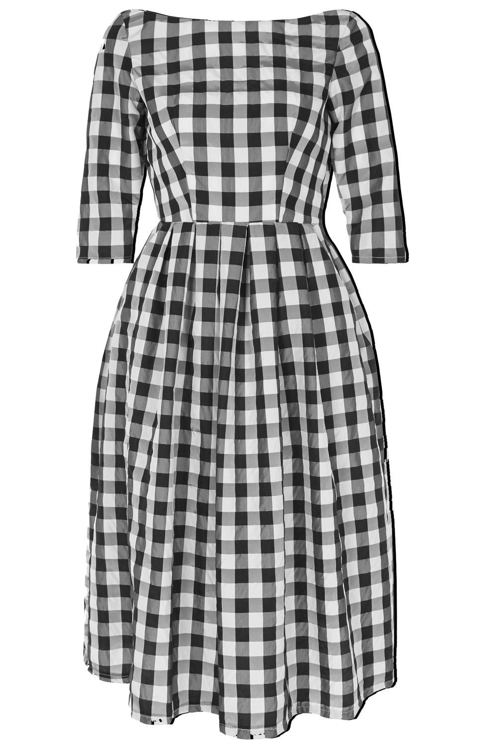 The checked marina dress black and white adorn pinterest