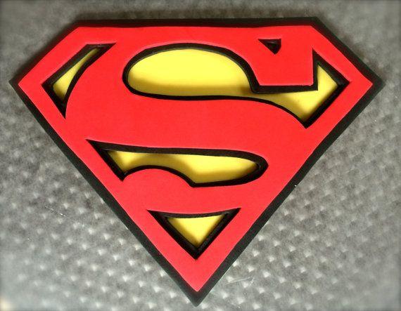 Edible Superman Cake Topper  Fondant by ColeFamilyCreation on Etsy