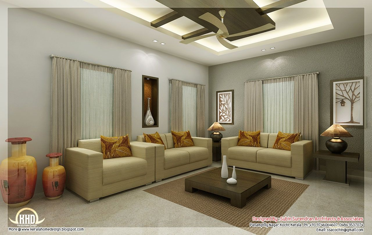 Interior designs for living room kerala style http Living room design kerala
