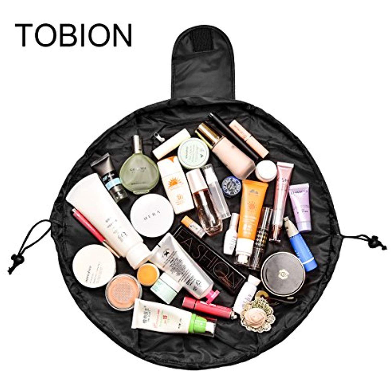 507e3e94544 Lazy Portable Makeup Bag Large Capacity Waterproof Drawstring Cosmetic Bag  Travel Makeup Pouch Magic Toiletry Bag Storage Organizer for Women   ...