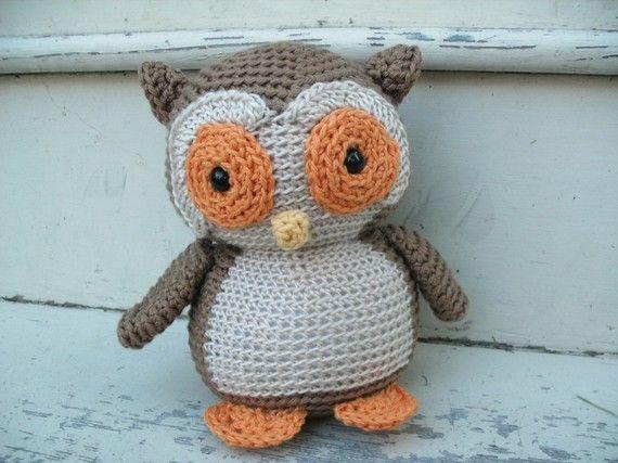 Crochet PATTERN: Owl Plush -pdf | Plüsch, Eule und Muster