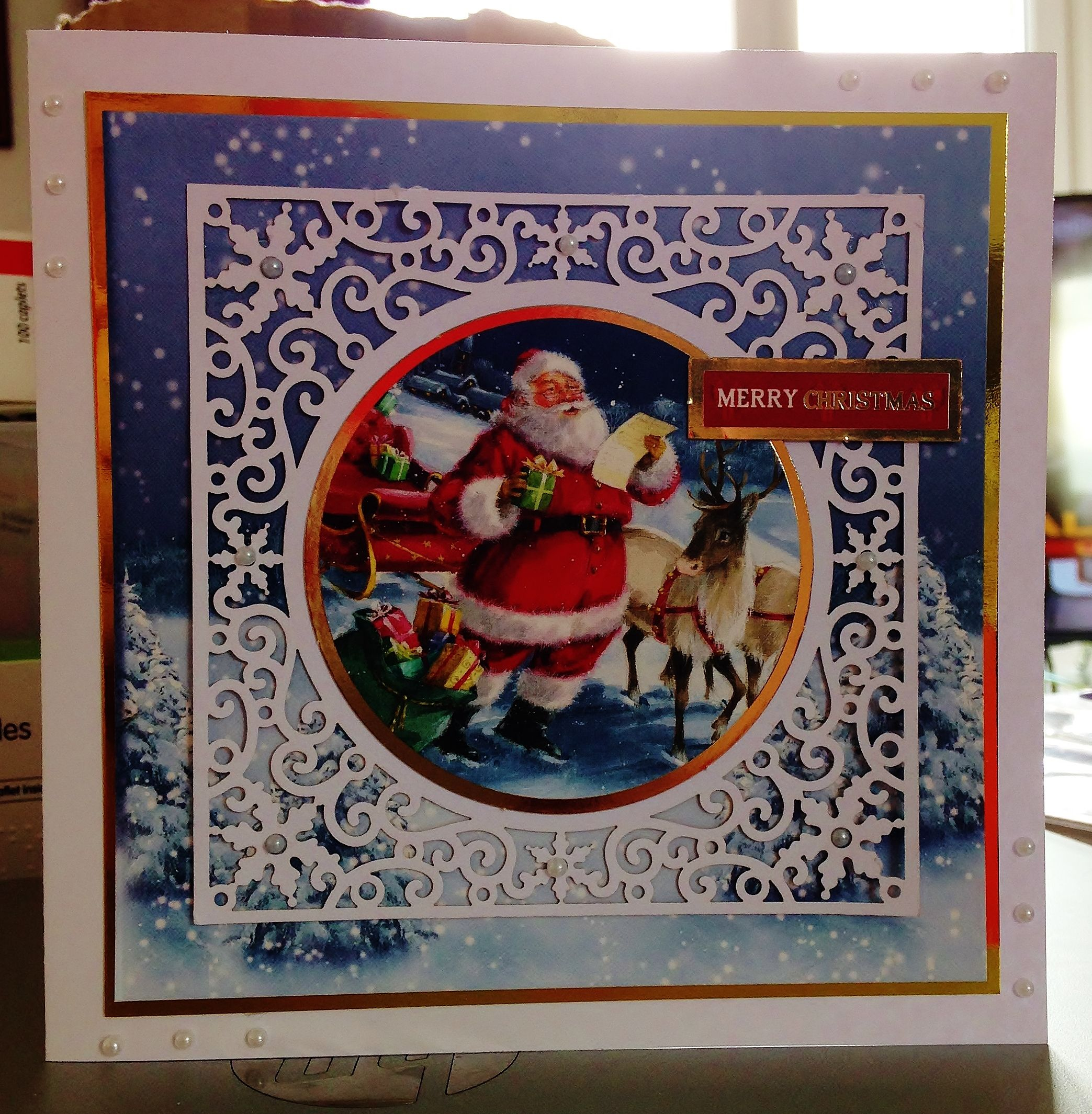 100) Christmas Card (5ins x 5ins) makings from Hunkydory Festive ...