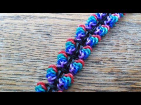 Rainbow Loom Mirabellen Bracelet - Hook Only Tutorial YouTube #ExpertLooms
