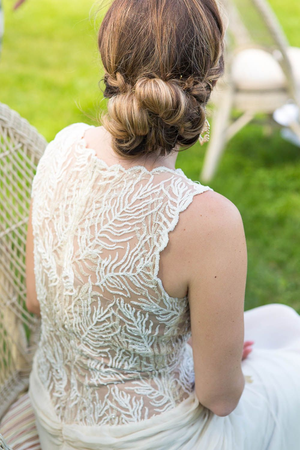 Stunning back details on this bhldn dress designed by