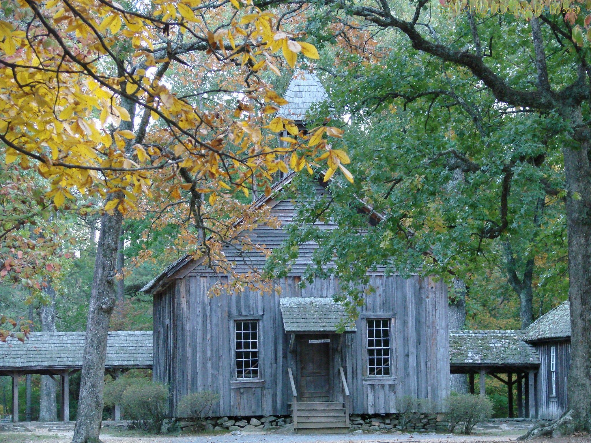 Possum Trot Church in the Fall. Old churches, House