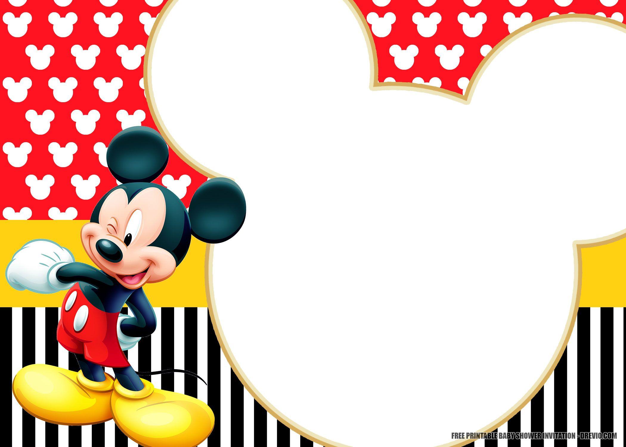 free printable mickey mouse invitation