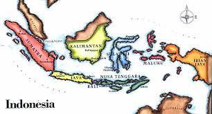 Indonesian Map Peta Gambar Warna