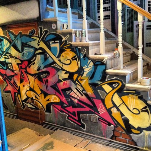 Indoor Graffiti. My House Will Be Like This.