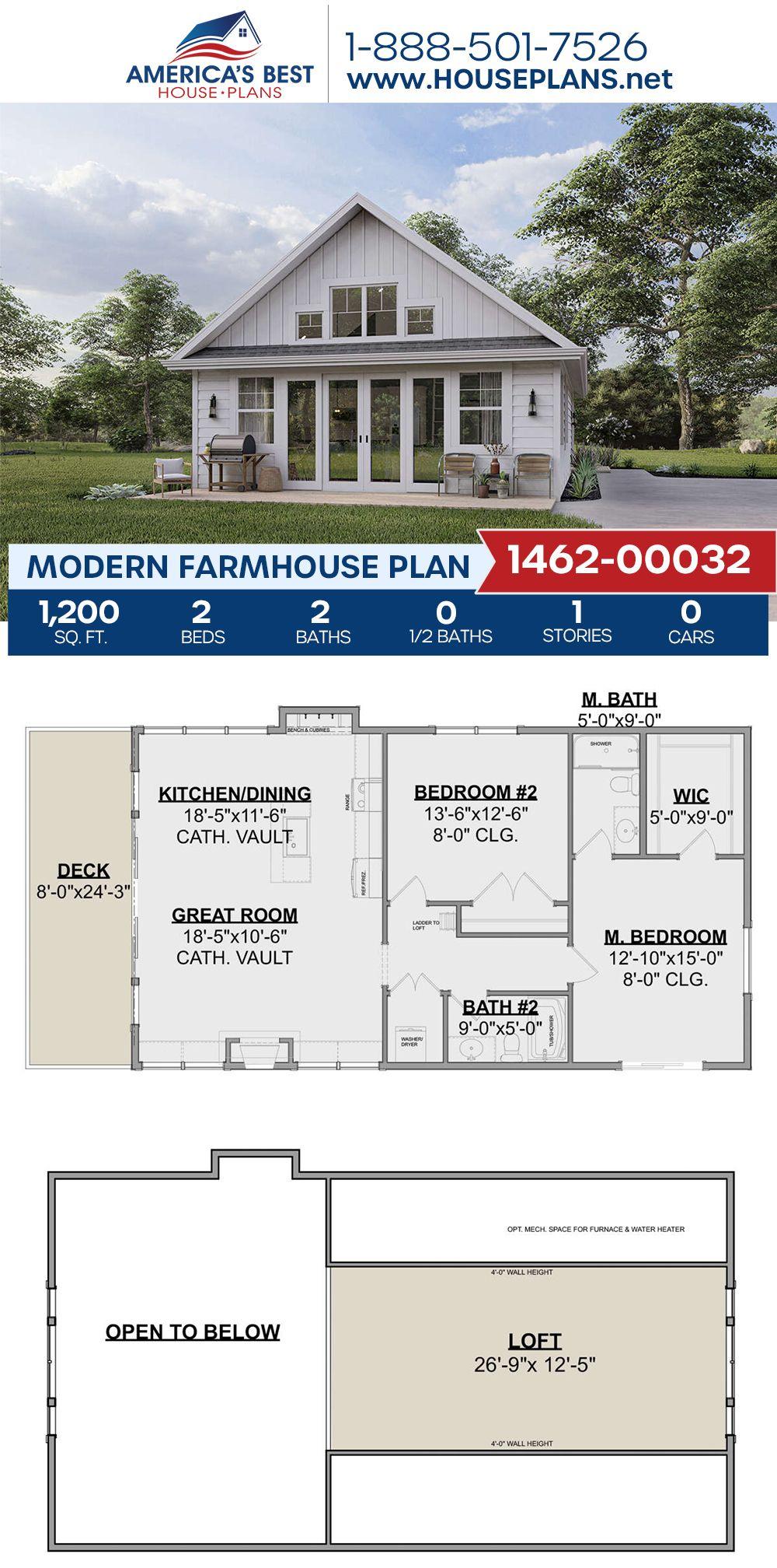 Modern Farmhouse Plan 1462