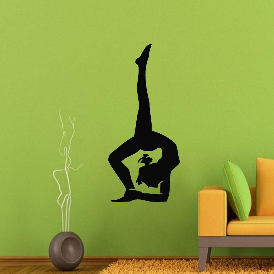Wall decals vinyl decal sticker art murals gym decor yoga girl
