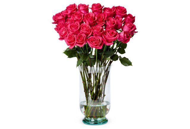 100 Premium Long-Stem Roses, Pink