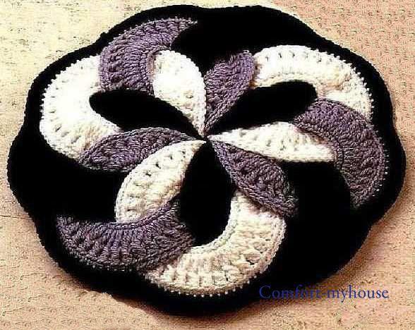 Anillos estera japonés: Otra muy hermosa estera japonesa original hecha anillos. Esteras japonesas.