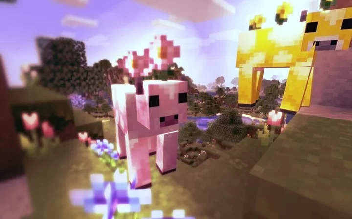 Flower Cows Moobloom And Moolip Minecraft Texture Pack Texture Packs Pink Texture Texture