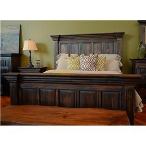 Best Vintage Wyoming King Panel Bed Great American Home Store 640 x 480