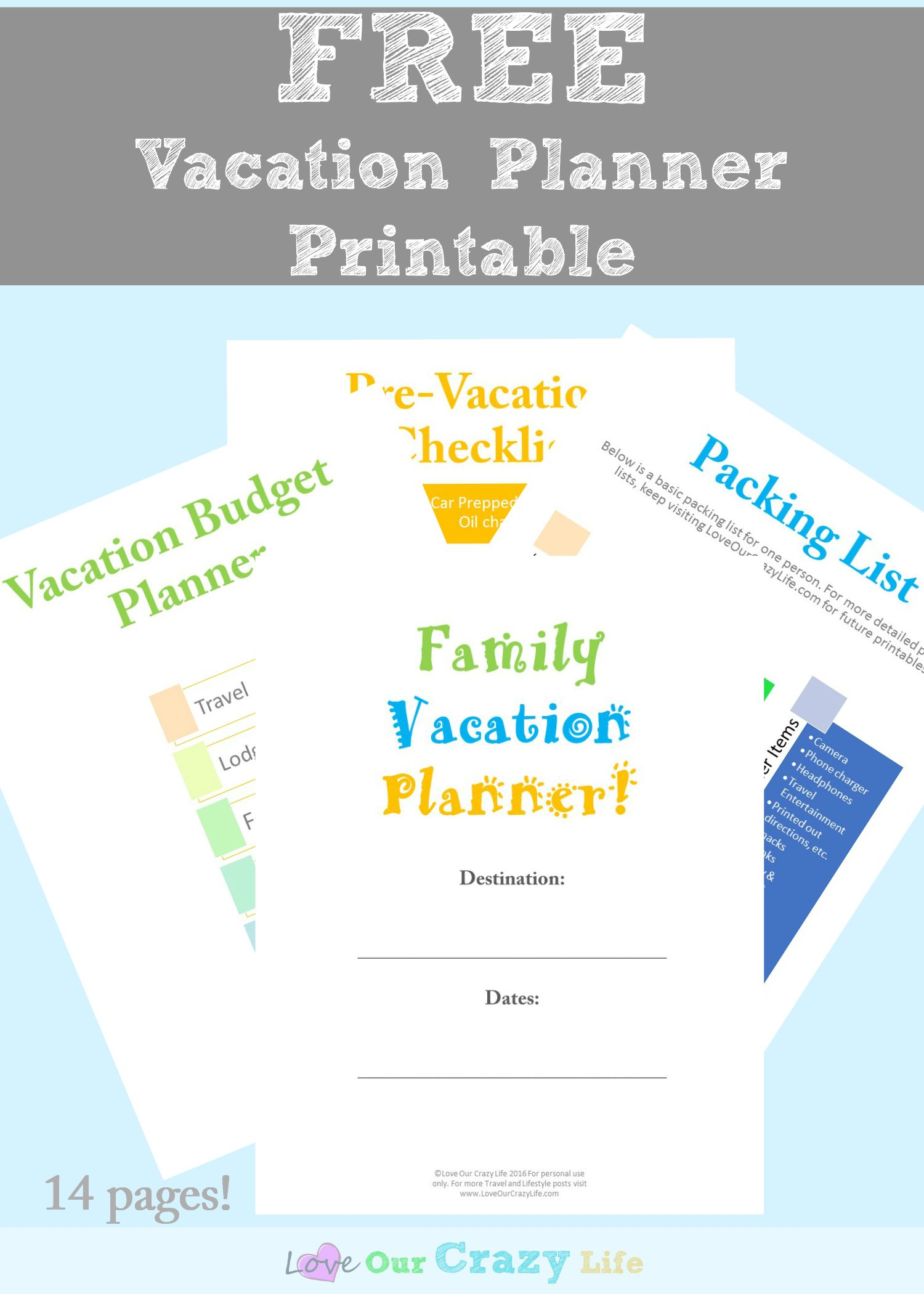 Family Vacation Planning Tips Free Planner