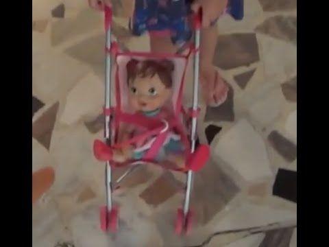 """Baby Alive Machucadinho Dódoi, filhos e papai """"palhaço"""" brincando  fazen..."""