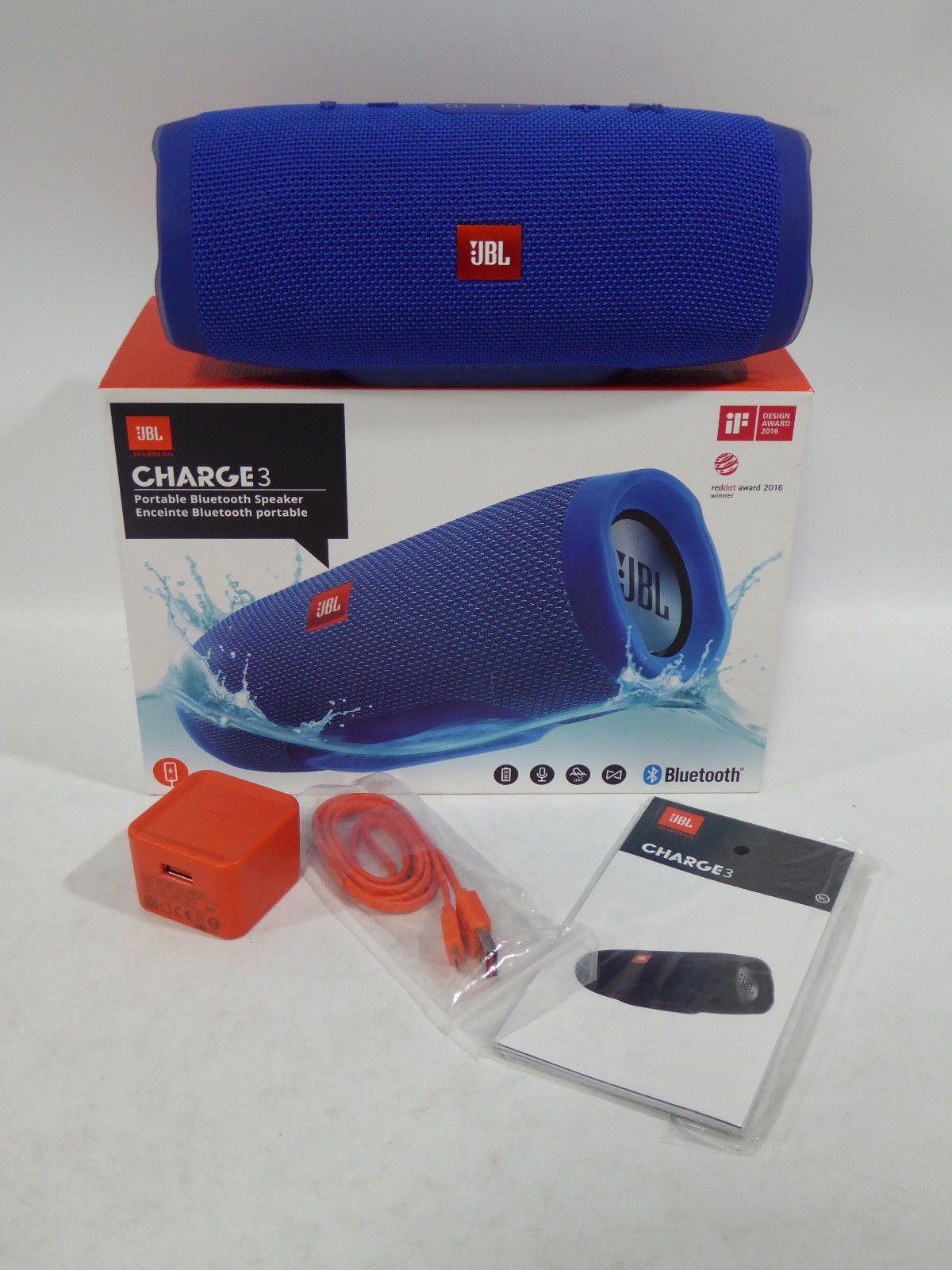 Jbl Charge 3 Waterproof Portable Bluetooth Speaker Blue Jbl Bluetooth Speakers Portable Jbl Bluetooth Speaker