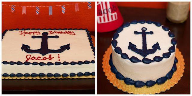 Jacob S 1st Birthday Party Nautical Birthday Cakes Nautical