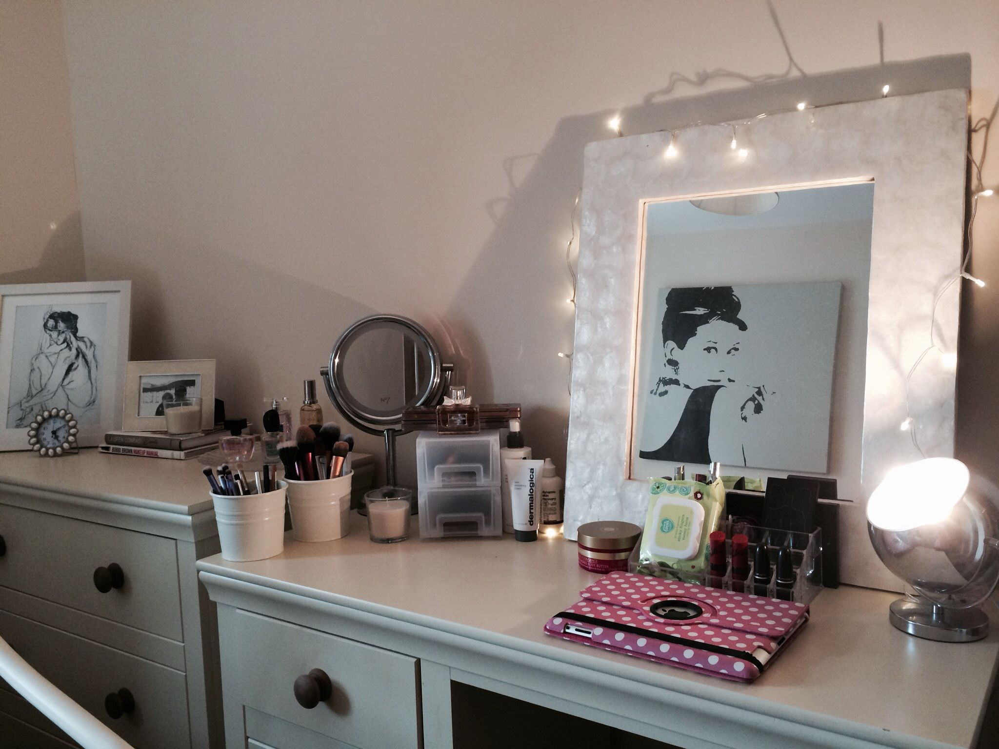 My blogging makeup station dressing table ideas home decor
