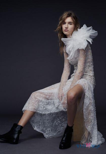 suknia ślubna Vera Wang koronkowa #polkipl