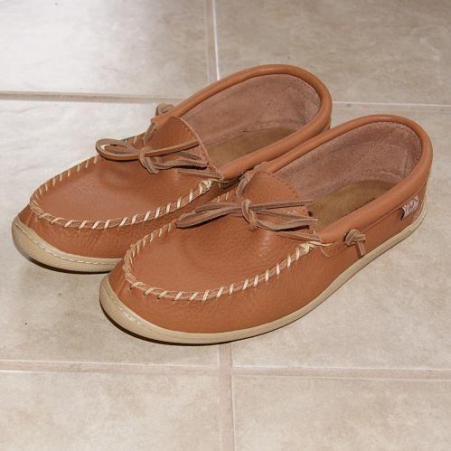 5cf62e915 Men's Dark Tan Genuine Leather Authentic Native American Moccasins - 4110 # moccasin