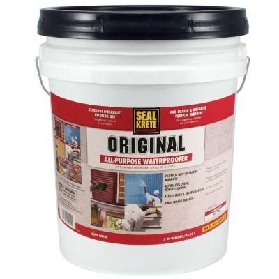 seal krete 5 gal original waterproofing sealer aa paper mache