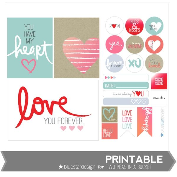 Love Printable Tags by Blue Star Design by Two Peas @Kari Jones Jones Jones Jones alissa Peas in a Bucket