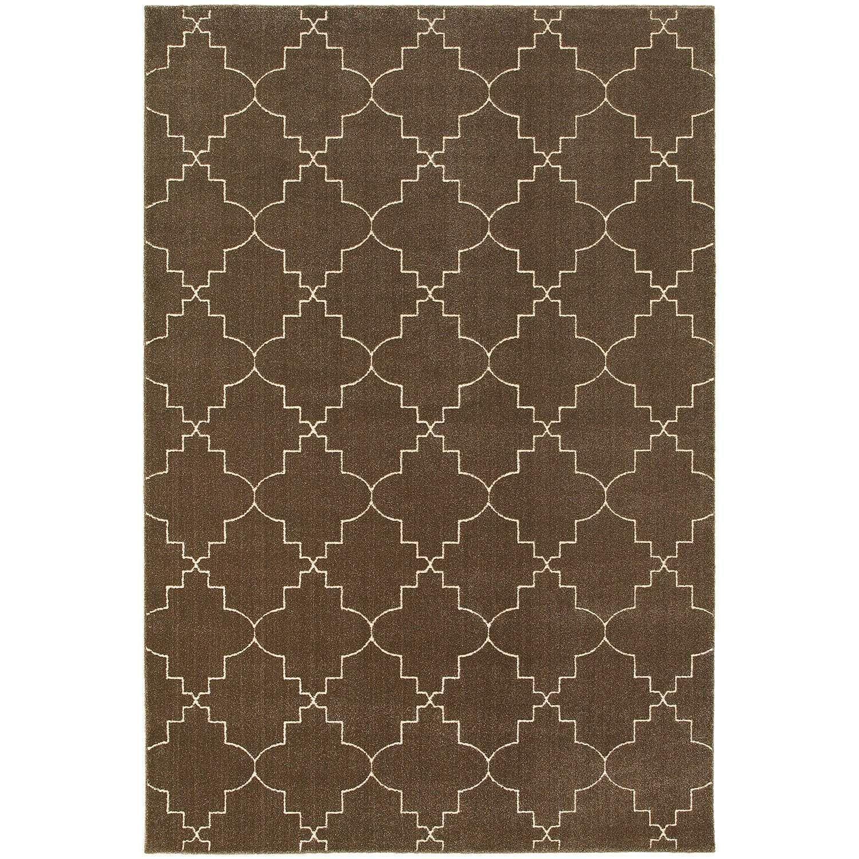 Ellerson 5994n Brown Contemporary Rug by Oriental Weavers