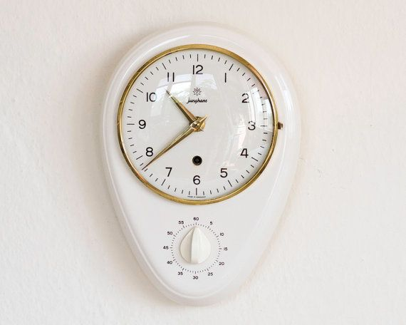 Vintage Kitchen Wall Clock JUNGHANS Shabby By ARoadThroughTime, $260.00