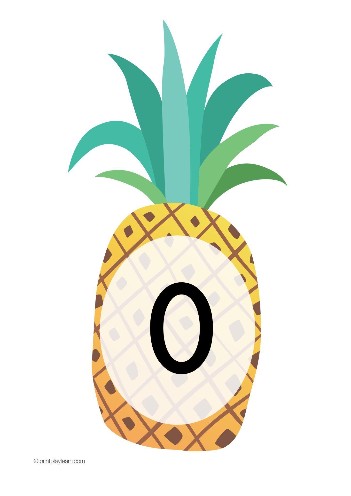 Pineapple Display Numbers 0 30