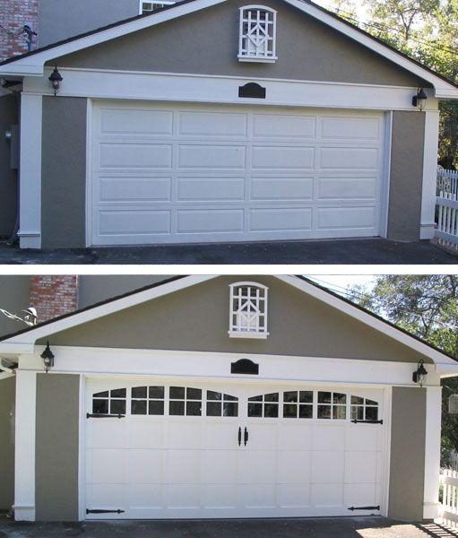Garage Door Before And After Garage Doors House Exterior Doors