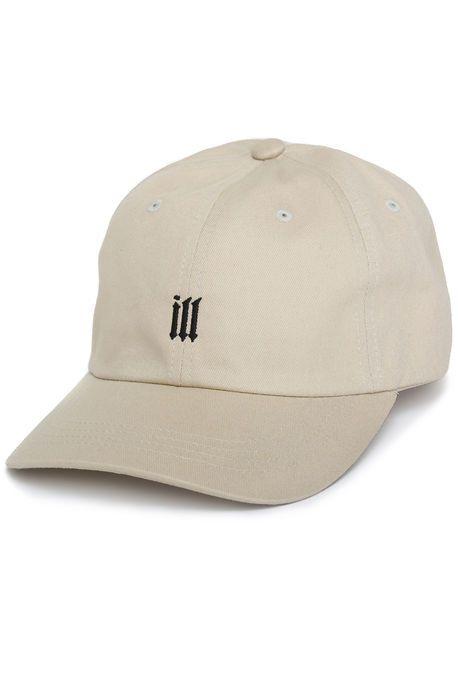 8a2e33c3dc1 12AM   RUN Hat ILL Dad Cap Black and Cream White