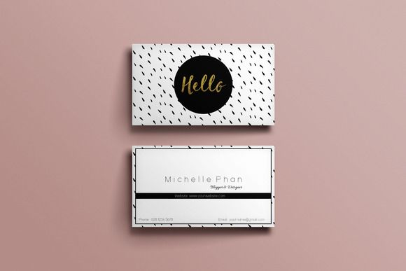 Modele De Carte Visite A Telecharger Modern Business Card Template By Chic Templates On Creative Market