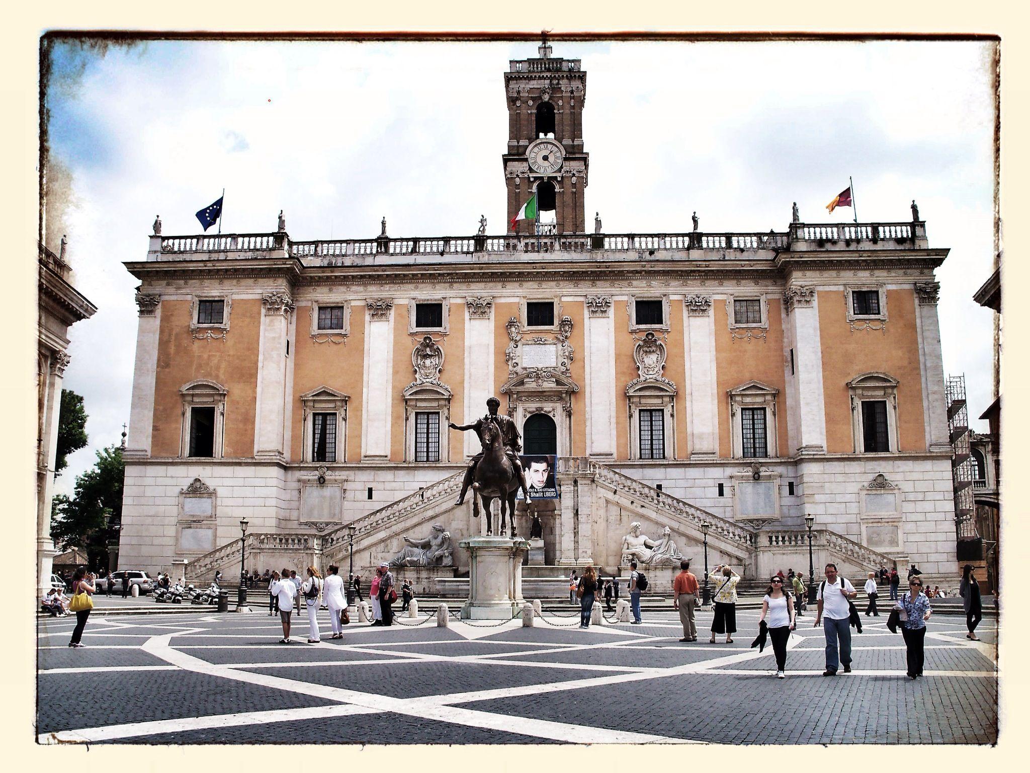 Piazza del Compidoglio Capitoline Hill Rome Italy