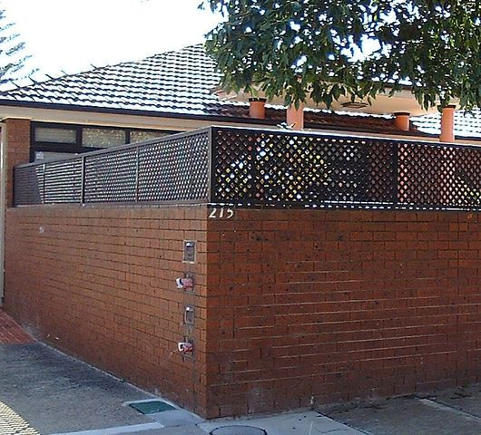 Brick Fence Extension Great Possibility For Side Fence