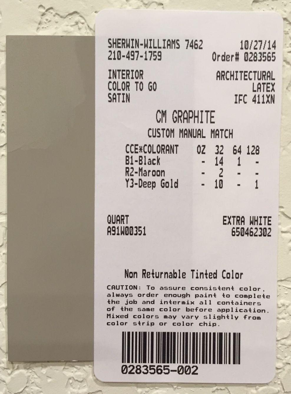 Restoration Hardware Paint Custom Color Match Graphite Paint