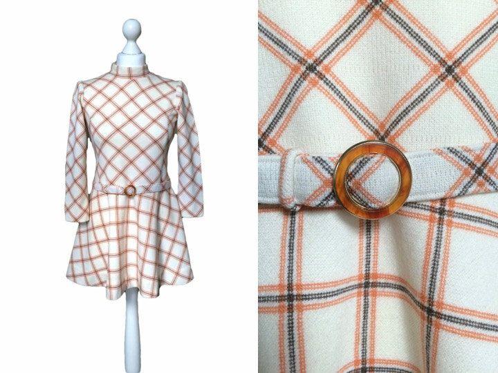 1960's Micro Mini Dress 60's Vintage Dress Ivory And