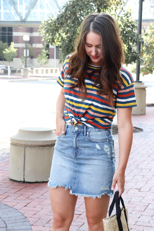 927021f934afc9 How The Denim Skirt Still Works | Fashion | Denim | Denim skirt ...